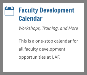 Faculty Dev Calendar